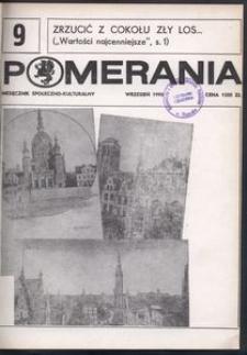 Pomerania : miesięcznik społeczno-kulturalny, 1990, nr 9