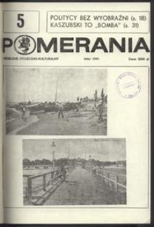 Pomerania : miesięcznik społeczno-kulturalny, 1991, nr 5