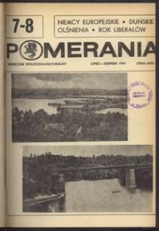 Pomerania : miesięcznik społeczno-kulturalny, 1991, nr 7-8