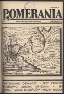 Pomerania : miesięcznik społeczno-kulturalny, 1991, nr 10