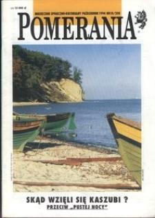Pomerania : miesięcznik społeczno-kulturalny, 1994, nr 10
