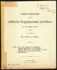 Siebenter Jahresbericht über das städtische Progymnasium zu Schlawe für das Schuljahr 1878/79