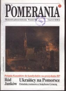 Pomerania : miesięcznik społeczno-kulturalny, 1995, nr 9