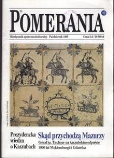 Pomerania : miesięcznik społeczno-kulturalny, 1995, nr 10