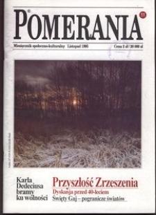 Pomerania : miesięcznik społeczno-kulturalny, 1995, nr 11