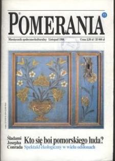Pomerania : miesięcznik społeczno-kulturalny, 1996, nr 11