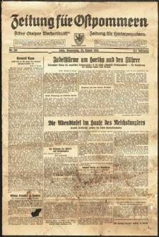 Zeitung für Ostpommern Nr. 198/1938