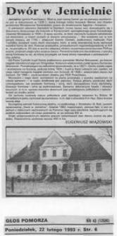 Dwór w Jemielnie