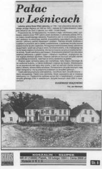 Pałac w Leśnicach