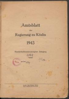 Amtsblatt der Preuβischen Regierung zu Köslin 1943