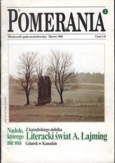 Pomerania : miesięcznik społeczno-kulturalny, 1998, nr 3