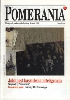 Pomerania : miesięcznik społeczno-kulturalny, 1999, nr 3