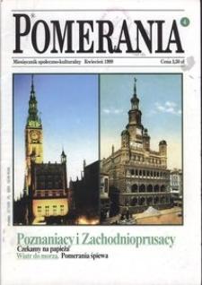 Pomerania : miesięcznik społeczno-kulturalny, 1999, nr 4