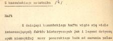 Haft. Z kaszubskiego notatnika (4)