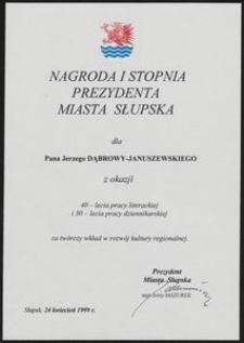 Nagroda I Stopnia Prezydenta Miasta Słupska