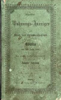 Allgemeiner Wohnungs-Anzeiger nebst Adress- und Geschäfts-Handbuch für Cöslin auf das Jahr 1891