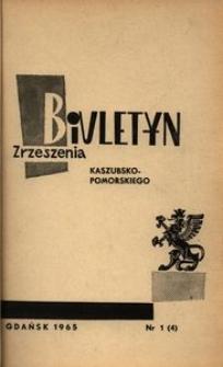 Biuletyn Zrzeszenia Kaszubsko-Pomorskiego, 1965, nr 1