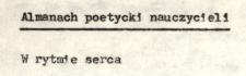 """Almanach poetycki nauczycieli """"W rytmie serca"""""""