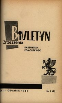 Biuletyn Zrzeszenia Kaszubsko-Pomorskiego, 1965, nr 4