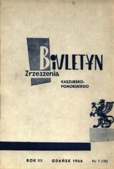Biuletyn Zrzeszenia Kaszubsko-Pomorskiego, 1966, nr 1