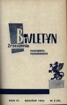 Biuletyn Zrzeszenia Kaszubsko-Pomorskiego, 1966, nr 3