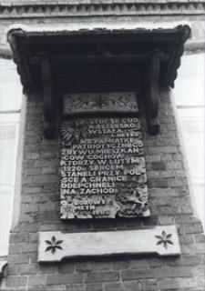 Tablica pamiątkowa w Borowym Młynie