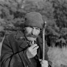 Pastuch Józef Kazuka z PGR-u w Malęcinie