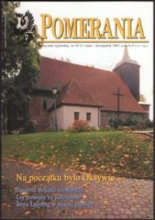 Pomerania : miesięcznik regionalny, 2003, nr 10-11