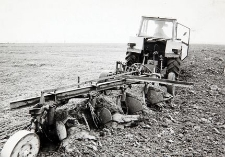Orka zimowa w Zakładzie Rolnym (ZR) Mianowice