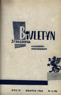 Biuletyn Zrzeszenia Kaszubsko-Pomorskiego, 1966, nr 6