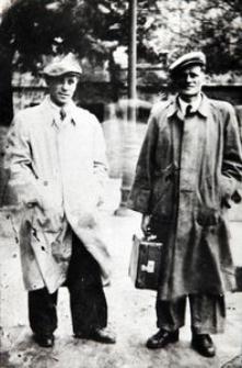 Stefan Olszak (z prawej) z Janem Kowalewskim