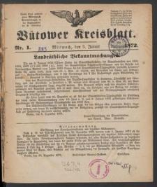 Bütower Kreisblatt 1872