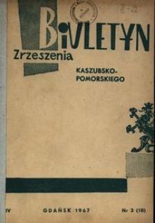 Biuletyn Zrzeszenia Kaszubsko-Pomorskiego, 1967, nr 3