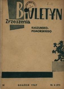 Biuletyn Zrzeszenia Kaszubsko-Pomorskiego, 1967, nr 6
