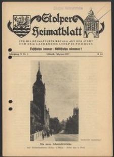 Stolper Heimatblatt für die Heimatvertriebenen aus der Stadt und dem Landkreise Stolp in Pommern Nr. 2/1957