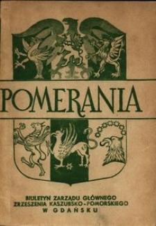 Pomerania : biuletyn Zarządu Głównego Zrzeszenia Kaszubsko-Pomorskiego, 1970, nr 1