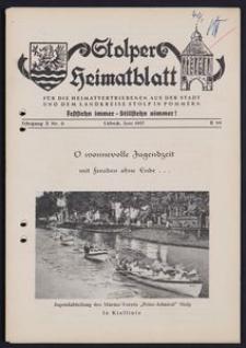 Stolper Heimatblatt für die Heimatvertriebenen aus der Stadt und dem Landkreise Stolp in Pommern Nr. 6/1957