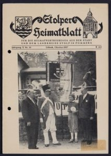 Stolper Heimatblatt für die Heimatvertriebenen aus der Stadt und dem Landkreise Stolp in Pommern Nr. 10/1957