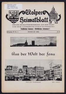 Stolper Heimatblatt für die Heimatvertriebenen aus der Stadt und dem Landkreise Stolp in Pommern Nr. 2/1956