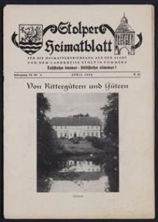 Stolper Heimatblatt für die Heimatvertriebenen aus der Stadt und dem Landkreise Stolp in Pommern Nr. 4/1956