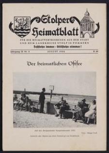Stolper Heimatblatt für die Heimatvertriebenen aus der Stadt und dem Landkreise Stolp in Pommern Nr. 8/1963