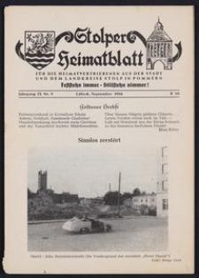 Stolper Heimatblatt für die Heimatvertriebenen aus der Stadt und dem Landkreise Stolp in Pommern Nr. 9/1956