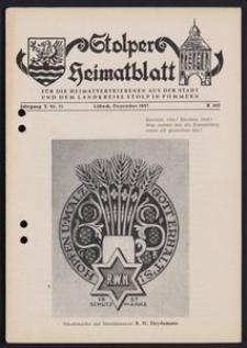 Stolper Heimatblatt für die Heimatvertriebenen aus der Stadt und dem Landkreise Stolp in Pommern Nr. 12/1957