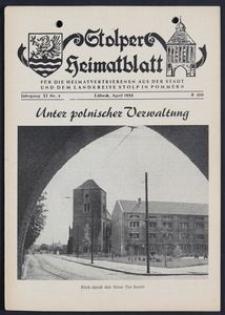 Stolper Heimatblatt für die Heimatvertriebenen aus der Stadt und dem Landkreise Stolp in Pommern Nr. 4/1958