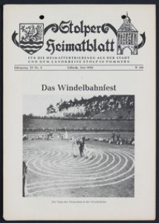 Stolper Heimatblatt für die Heimatvertriebenen aus der Stadt und dem Landkreise Stolp in Pommern Nr. 5/1958