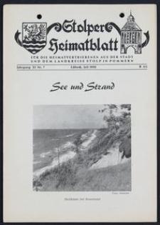 Stolper Heimatblatt für die Heimatvertriebenen aus der Stadt und dem Landkreise Stolp in Pommern Nr. 7/1958