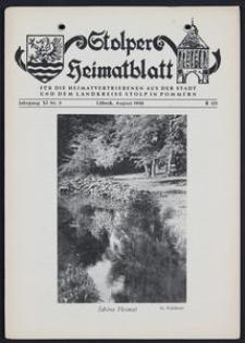 Stolper Heimatblatt für die Heimatvertriebenen aus der Stadt und dem Landkreise Stolp in Pommern Nr. 8/1958