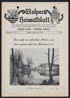 Stolper Heimatblatt für die Heimatvertriebenen aus der Stadt und dem Landkreise Stolp in Pommern Nr. 9/1958