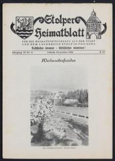 Stolper Heimatblatt für die Heimatvertriebenen aus der Stadt und dem Landkreise Stolp in Pommern Nr. 12/1958