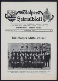 Stolper Heimatblatt für die Heimatvertriebenen aus der Stadt und dem Landkreise Stolp in Pommern Nr. 2/1955